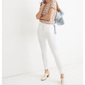 Madewell 10 inch high rise white skinny jeans 27
